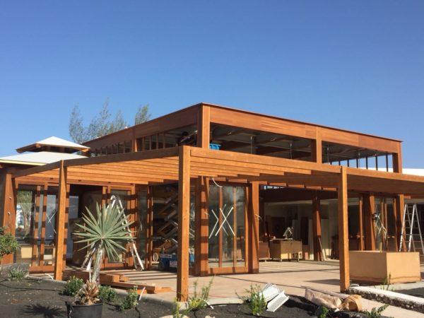 Caseta de madera para hotel en Lanzarote